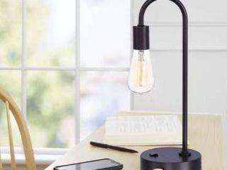 Porch   Den Harper Grey Slate 17 inch Task lamp