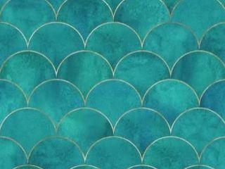 Ocean Waves Removable Wallpaper 10 Hx24 W