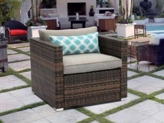 Cosiest outdoor furniture wicker chair with cushions