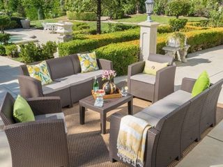 Couch Only  Jacksonville Outdoor Wicker style Chat Set with Sofa and Cushion by Christopher Knight Home Retail 899 49
