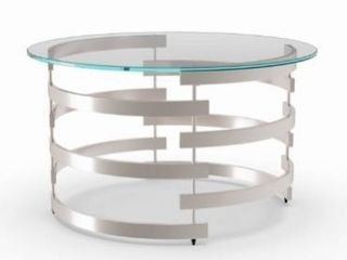 Silver Orchid Bardeen Round Coffee Table Retail 181 99