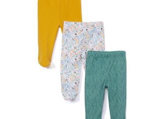Spasilk 3 Pack 100  Cotton Footed Pants 9 mos