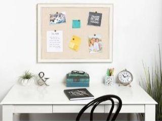 DesignOvation Macon Framed linen Fabric Pinboard 27x43 Retail 99 99