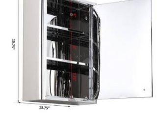 kleankin 14  W x 20  H Wall Mounted Bathroom Medicine Cabinet with Vanity Mirror Retail 88 99