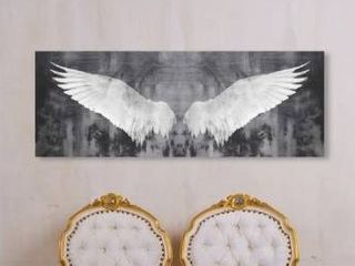Oliver Gal  Infinity  Fashion and Glam Wall Art Canvas Print   White  Gray Retail 135 49