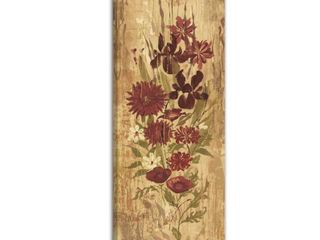 Marmont Hill   Handmade A Floral Frenzy Burgundy Painting Print on Canvas Retail 108 49