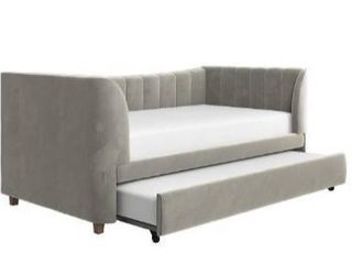 little Seeds Valentina upholstered twin daybed with trundle  Box 2 only