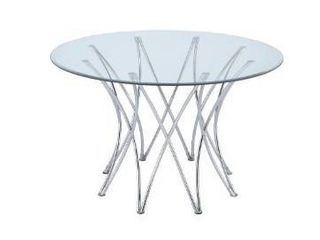 Cabianca contemporary chrome table base only box 1 of 2 only