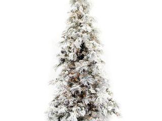 9  Flocked long Needle Pine Christmas Tree
