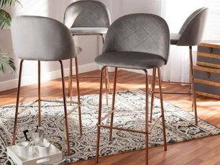 Addie luxe and Glam 4 Piece Bar Stool Set Retail 366 49  Bases only