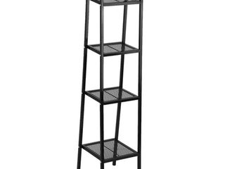 4 Tier Storage Furniture Wall Shelves ladder Bookcase Bookshelf