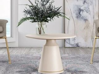 Mod Rest Ariana modern white concrete coffee table top  Box 1  table top only