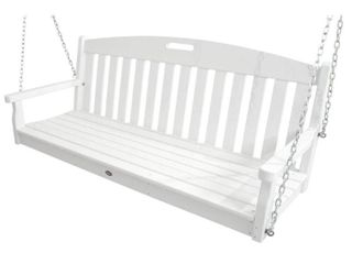 Trex Outdoor Furniture Yacht Club Swing  Classic White Retails for  439 00