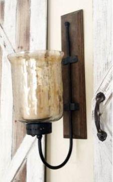 Porch   Den Mendota WD MTl Glass Candle Sconce
