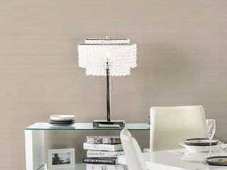 Furniture of America Daye Glam Silver Metal Crystals Table lamp Retail 99 99