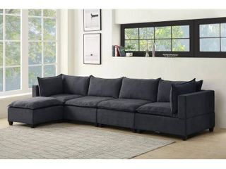 Madison Modular Sectional Sofa Chaise w  Down Feather   Dark Gray  Side piece only