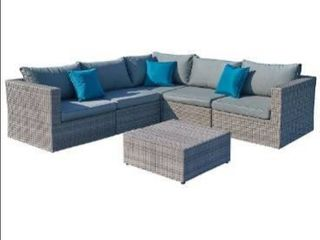 Starsong MS122 Patio Sofa Set  Grey  Box 1 of 3  One corner chair and one armless chair only