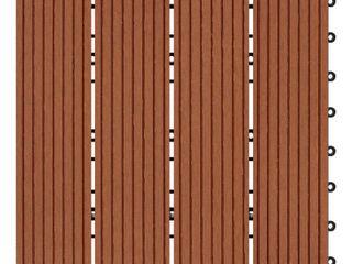 Clay Finish Bamboo Composite Deck Tile  11 Sq  Ft Carton