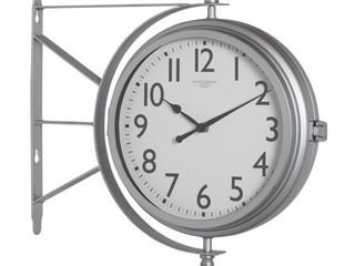 Studio Designs Home Metro Station 18  Dual Face Clock and Thermometer