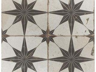 SomerTile 17 625x17 625 inch Royals Estrella Oxide Ceramic Floor and Wall Tile  5 tiles 11 02 sqft