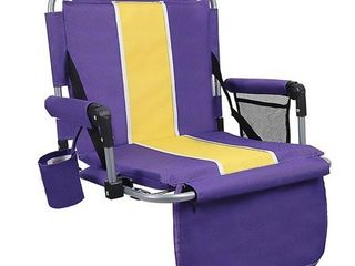 AlPHA CAMP Stadium Seat Chair for Bleachers with Back   Arm Rest