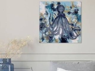 Oliver Gal  Master of the Sea Marble  Animals Wall Art Canvas Print   Blue  Gold Retail 231 49