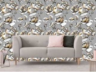 Rose Gold Rosses Removable Wallpaper   10 ft H x 24 inch W