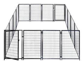 AlEKO Dog Kennel Pet Playpen Cage Fence 10X10X4 Feet Retail 452 99