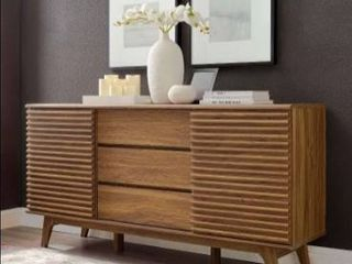 Carson Carrington lagered 63 inch Sideboard Buffet Table or TV Stand Retail 339 99