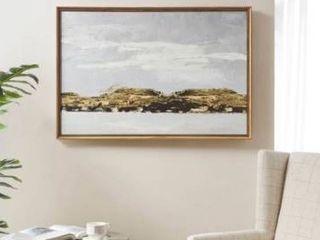 Martha Stewart Foggy Morning Multi Framed Gel Coated Canvas