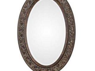 Find bronze antique gold oval mirror