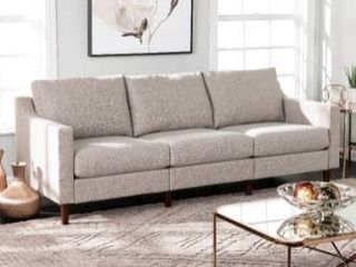 Davis Transitional Fabric Oversized Sofa center part  center chair with pillows only