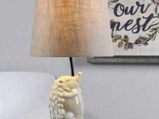Taylor   Olive White Hedgehog Table lamp