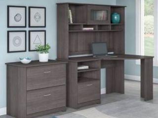 BOX 2 of 3  Copper Grove Daintree Corner Desk with Hutch Retail 436 99