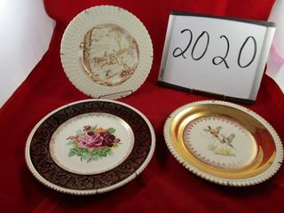 Three plates  Georgia gilted with 24kt