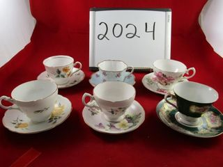 6 cups   saucers  Colclough  Royal Ascot  England