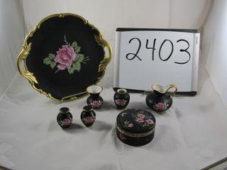 Black porcelain  Black Beauty  Germany  trinket