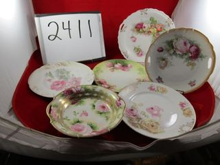 5 Plates  some made in Germany  RS Tillowitz