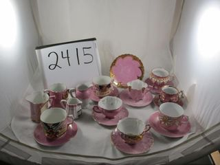 Victorian lot  cups and saucers  plate  cream jugs