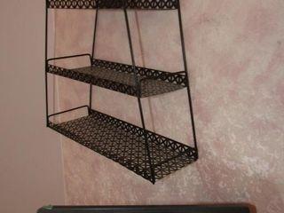 Retro wall rack  16  H x 13 5  W