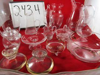 Glass lot  Pitchers  jugs  vases  bowls  Jam jar