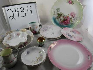 Victorian Porcelain  5 plates  2 bowls  3 nappies