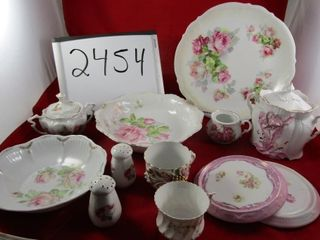 Victorian lot of porcelain