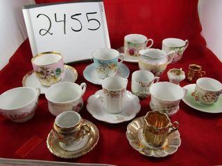 Victoria Porcelain  Cups   Saucers  Demitasse