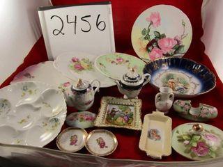 Victorian Porcelain  plates  bowls  mini