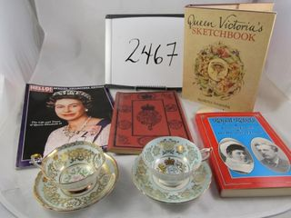 Royalty Queen Elizabeth Paragon cups   saucers
