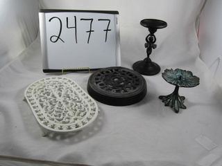 Cast trivets  and candleholders