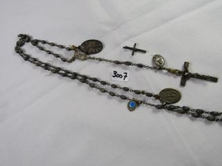 28 86 grams sterling rosary with non sterling