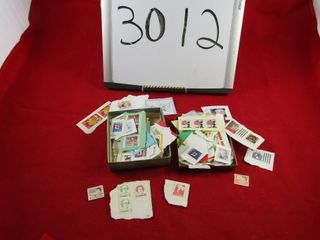 Assorted used stamps   small box