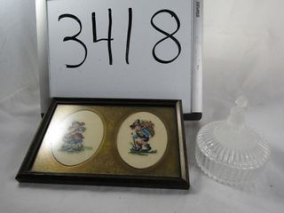 Hummell covered trinket box and plus Hummell covs